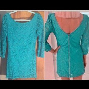 ASOS Dresses - NWT ASOS 3/4 sleeve floral crochet tunic dress